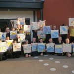 Croxteth primary in Croxteth Liverpool, bags for life designed by children