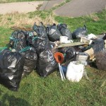 Rubbish left dumped on beaches